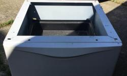 i have a nice pedestal base for washer or dryer, feel free to call or text me @ 250-713-7663