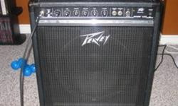 The BASIC 112 is a great combo bass amplifier for small clubs or just as a practice amp. The amp is in good condition, great sound and can be used for your electric and acoustic guitar. Features: 75 Watts RMS into 4 Ohms, 50 Watts RMS into 8 Ohms 1/4 in.
