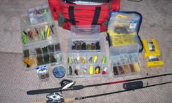 500 or best offer on this kit, valued at over $2000 !! contains everything for bass fishing without the boat. bass pro gear bag in near new condition, with marker buoys, jigs, spinner baits, crank baits , two 6foot bait casting rods and reels, hooks,