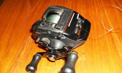 Shimano Bass reel. Bantam Black Magnum. Used but in good working condition, lined with 10 pound test $30.