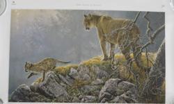 "Variety Special Edition, Robert Bateman print. ""Excursion - Cougar and Kitts."" 23 x 14"