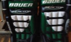 """I have a pair of Bauer 34"""" Adult Goalie Pads for sale."""