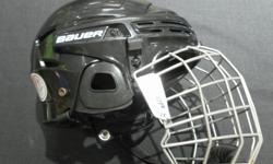 MONEYMAXX HAS A BAUER 2100 SERIES HELMET WITH A CAGE FOR SALE. THE HELMET IS BLACK IN COLOR AND COMES WITH A CAGE. THE SIZE IS MEDIUM. COME ON DOWN AND HAVE A LOOK