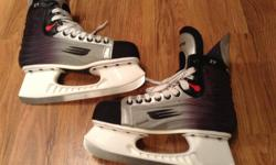 Bauer XT hockey skates. Size 8.5, or 10 US shoe size or Euro 44. Worn 5-6 times. Stored clean and dry. Im in Sooke, but I can bring them to Victoria. Text me!