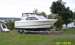 1996 , 25Ft Classic Bayliner with a magnum 5.7 L engine with a Alpha one Mercrusier stern drive The boat came off the Great Lakes used only in Fresh water, with only 400 Hrs on Engine and Stern drive Comes with a Tandem Galvanized trailer.  The anodes