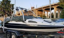 PRICED TO SELL!!! 1990 Bayliner with 1996 Mercury V6 2 stroke motor and Boat trailer. Includes wakeboard bar and speakers... a steal! Currently parked at the Burrard Bridge Civic Marina. Motor is running but currently disassembled as it will need a new