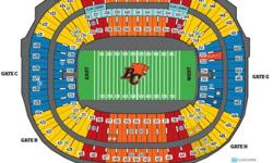 UP TO 8 INA ROW, 50 YARD LINE ROW A!! NOTHING IN FRONT OF YOU BUT AN AWESOME VIEW OF THE FEILD AND SCREEN ALSO HAVE GREat club seats at center feild and 20 yard line... txt/call/email for more info picture is from section 414 row A
