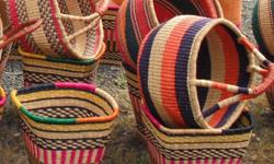 Thinking about buying a gift for those who are hard to buy for? Why not buy them an Authentic hand-woven Bolga Basket made in Ghana, West Africa. We have lots of colours and sizes left.   All Bolga Baskets are 100% environmentally friendly. Each basket is