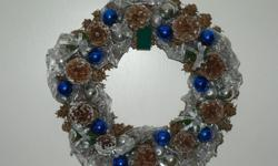 These georgeous hand made Wreaths are proudly made by my wife in our home. She puts a lot of time into creating every one a little different than the next.   She has many different colors available to choose from to suit your home. Each wreath will come
