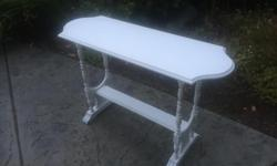 this is a beautiful distressed piece painted with chalk paint and waxed. its in excellent condition. I can deliver. 250 208 3174 FOR OTHER FURNITURE LOOK AT MY SELLERS LIST 46 x 16 x 30 high
