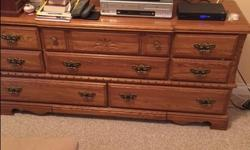 Headboard, 2 Night tables, dresser with mirror and 4 drawer dresser