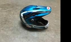 Bell full face BMX helmet size medium. A few scratches but good condition