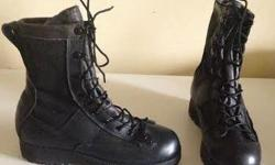 """Belleville Gore-Tex 8"""" High Boots Fits Size 7 Mens or Size 8 1/2 Womens Regular width Combat Style Full lace up Belleville's patented VANGUARD running sole construction combines a cushioned direct injected midsole with a 100% rubber VIBRAM Sierra outsole"""