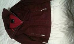 Large Raspberry Bench Jacket asking $50 This ad was posted with the Kijiji Classifieds app.
