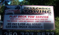 Best Choice Towing Ltd. helps customers only/ we do customer service, ALL JOBS BIG OR SMALL, CALL FOR ENQUIRES   Jump start your car. Locked keys in your car? lockout services Flat deck towing only. Long distance towing? Victoria to Comox. (call for