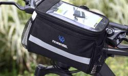 """Bicycle Bike Front Handlebar Pouch Bag - 3.5L - Black - W7-7/8"""" x D4-3/4"""" x H6-1/4"""" - brand new, never used - $25 firm"""