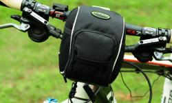 """Bicycle Bike Front Handlebar Pouch Bag with Rain Cover - Black - W5-1/2"""" x D4"""" x H6-1/2"""" - brand new, never used - $25 firm"""
