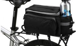 """Bicycle Bike Rear Rack Top Bag with Shoulder Strap - Black - L14"""" x W10"""" x H7"""" - brand new, never used - $45 firm"""