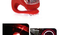 Bicycle Bike Safety LED Light - Red - powered by 2 x CR2032 battery (batteries included) - 4x3x3 cm - brand new - $6 firm PRODUCT FEATURES: Multifunction mounting: rear warning light operation modes: full light, fast flashing, slow flashing, off Water