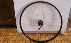 "Bicycle Rim - FYI - NO tire/tube SUNRIMS - Ditch Witch Shimano HB-M475 VIAM Front wheel - used on a Kona Stuff bicycle Approx 22 1/4"" diameter 32 spoke wheel - all straight/intact Price of $25. ABSOLUTELY FIRM, cash only You p/u, located in CHEMAINUS"