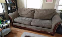 Free couch. Big 3 seater, makes a great guest bed. About 239cm long and 105cm deep. No deliveries.