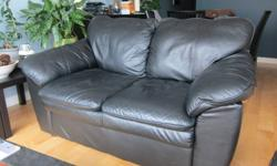 Gently used black leather couch and loveseat.  Making room in condo for new couch.