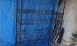 4 shelves measuring 6 ft high x 4 ft wide x 22 inches deep