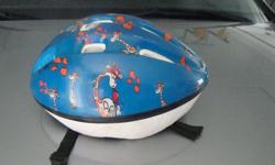 Child's blue bike helmet in good condition. Used very little. $5.