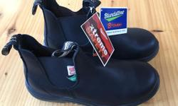 Steel toe, tags still on. Size 8 US mens, 10 US womens. Live in Jordan River, but I head to Sooke, Langford and Victoria.