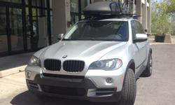 Make BMW Colour Silver Trans Automatic kms 168000 2008 BMW X5 3.0 in Mint Condition with BMW 336 Rims and Fender Flares, good rubber,DVD PLAYER Black Leather interior,Heated Driver & Passenger Power Front Seat Package with Memory & Multiple Adjustments,