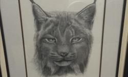"""Don't think """"bobcat' is the name of the painting Limited edition artwork $150 obo"""