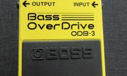 Boss Bass Overdrive ODB-3 effects pedal