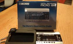 Boss Micro BR recorder. Like new with leather case. Hardly used have no time. Call Barry 2506689270