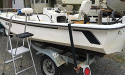 Boston Whaler - 14 ft with trailer and 20 hp 4 stroke Yamaha with power tilt, just 30 hours on the motor. Trailer has all new tires. Boat is registered with Transport Canada.