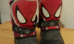 Size 9 Spiderman lined winter boots ($5) Size 10 Blue/green runners ($5) All in good condition from smoke- and pet-free house.