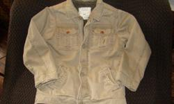 For sale is a really handsome Jacket from Children's Place It is a beige/taupe colour with a brown fur fleece lining This jacket is in excellent condition Size M Can meet or deliver in Kingston Lots of other great items listed