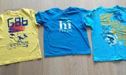 3 T shirts ( 2 from gap kids) 1 Joe fresh sweater. All in good condition