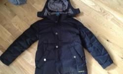 Black Firefly Downfill winter coat. Size Small which is about a Size 10. Purchased at Sportschek last Christmas for $129.99 and worn half a season. Great Condition. Snow spray wasteband inside. Lots of zipper pockets. VERY WARM. Beautiful jacket for