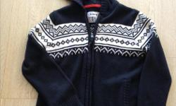 Lovely boys hooded zip up sweater. Worn only a few times.