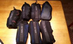 Various sizes and models of brand new Arcteryx climbing harnesses. Removed from the bag only once to take these pictures. NOT STOLEN, have proof of purchase. 1 x Large i-340a harnesses, deep blue ($100) 2 x Extra-Large s-220 LT harnesses, blue/green