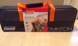 Never been used. Coleman Badminton Set. Perfect Gift. $25 OBO Call or text. Come 'n get it! :D