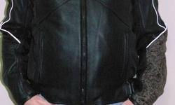 (Michael) Jordan Motorsports BRAND NEW LEATHER Motorcycle Jacket   You can see more pics & close up of jacket details on Picasa at the following address which you can cut and paste into your browser.