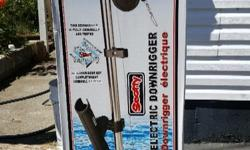 """Model #1106. Depth Power Electric Downrigger w/ 60"""" boom. Still in the box and never been used. In fact the box has never even been opened. I won it in the Sooke Salmon Enhancement Derby last year. Includes swivel mount. Most stores retail this model for"""