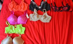 I have a ton of bras for sale, varying brands & sizes. Please let me know if you need extra information on any items. Some are new, most pre-loved, but are good to go! We are currently in Sidney & have limited transportation, so would really appreciate if