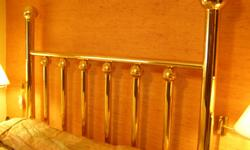 King size brass headboard, great condition