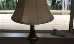 Solid Brass Lamp with Shade