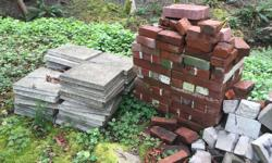 Free bricks and patio stones. You want them you take them!