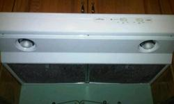 """Broan Allure Range hood - White Approx 1 year old - used maybe three times. 30"""" vented to rear/outside 200 CFM, 2 speed setting, 1.5 sones sound rating at low speed setting. Changed to Stainless Appliances Purchased at $184"""