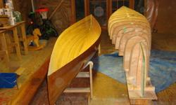 I am selling the plans for a 17' Freedom cedar strip Canoe, the strongback (this is the bench on which you assemble the canoe and holds the station molds in place) and the station molds/forms. (There are two missing but they can easily be re-cut from the