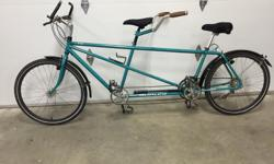 1993 Burley Bongo tandem. This bike has had little use over the years and is in very good condition. Size 18.5/16.5 small/medium size The Bongo comes with Suntour XC Pro components, which include Pro thumbshifters shift levers, Pro front deraileur and Pro